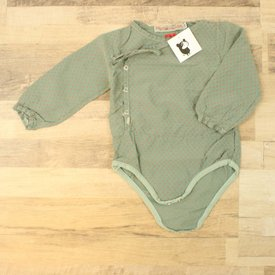 Fred & Ginger GROEN GEPRINTE PLAYSUIT  | FRED&GINGER | MAAT 9M