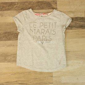 H&M GRIJS T-SHIRTJE MET BORDUURSEL | H&M | maat 98/104