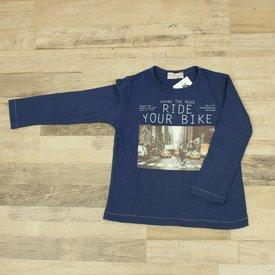 Zara BLAUW T-SHIRT MET OPDRUK | Zara | maat 110