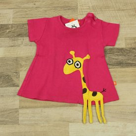 ROZE T-SHIRT MET APPLIQUE | Lipfish | maat 62/68