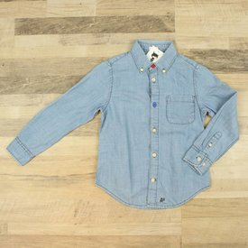 American Outfitters BLAUW JEANSHEMD | AMERICAN OUTFITTERS | MAAT 6J