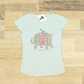 American Outfitters BLAUW T-SHIRTJE MET OPDRUK   AMERICAN OUTFITTERS   MAAT 6J