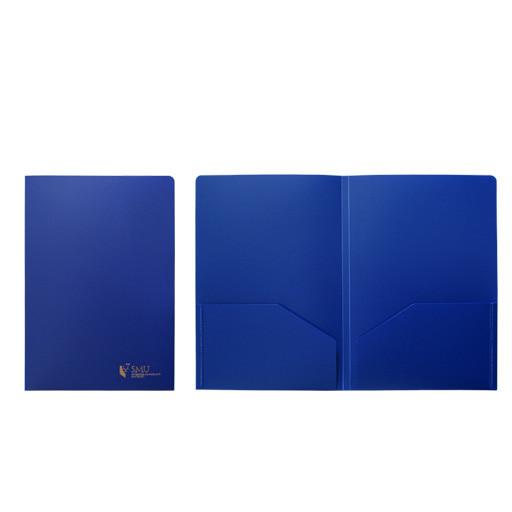 File / Folder SMU Plastic Folder, Navy, A4