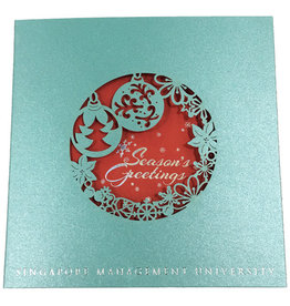 Miscellaneous SMU Christmas Card, Turquoise, 2016