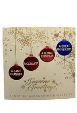 Customisation SMU Christmas Card, Gold