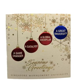 Miscellaneous SMU Christmas Card, Gold