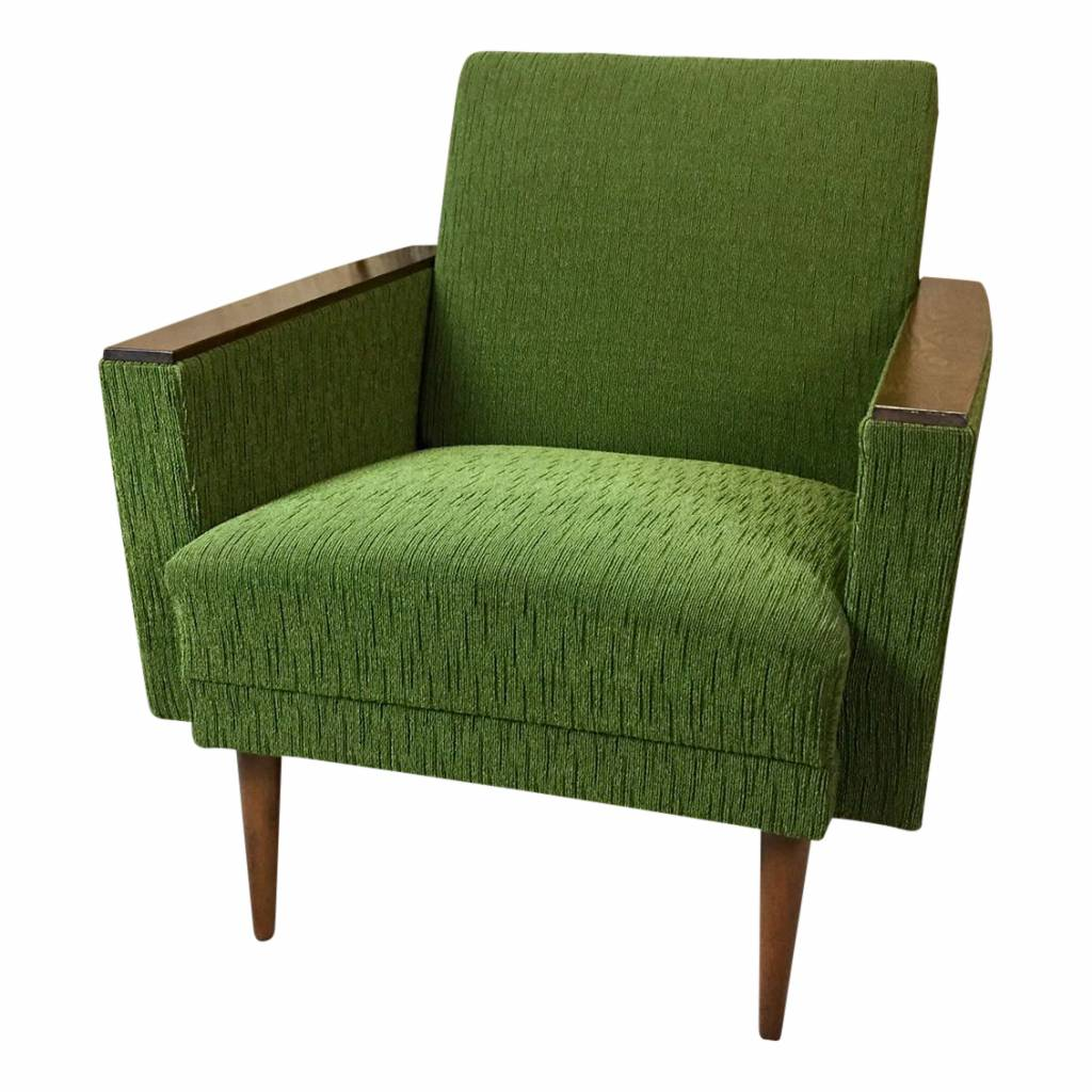 groene vintage fauteuil mid century mansion. Black Bedroom Furniture Sets. Home Design Ideas