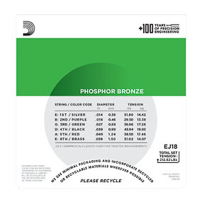 D'Addario D'Addario EJ18 14-59 Phosphor Bronze Heavy