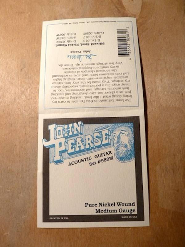 John Pearse John Pearse 980M Pure Nickel Medium Gauge