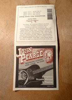 John Pearse John Pearse 3100 Phosphor Bronze Resophonic/Acoustic G Tuning