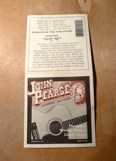 John Pearse John Pearse 1400L 12 String Phosphor Bronze Light Gauge