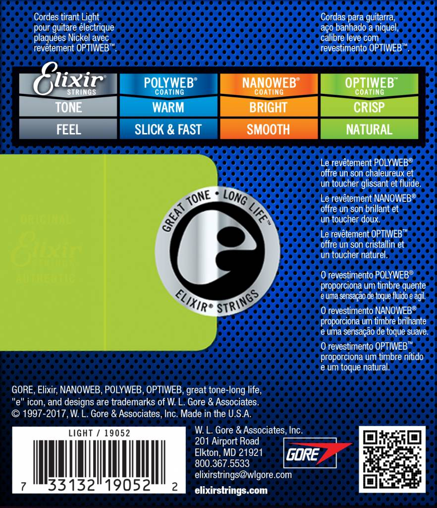 Elixir Elixir Polyweb 10-46 Electric Guitar String 19052