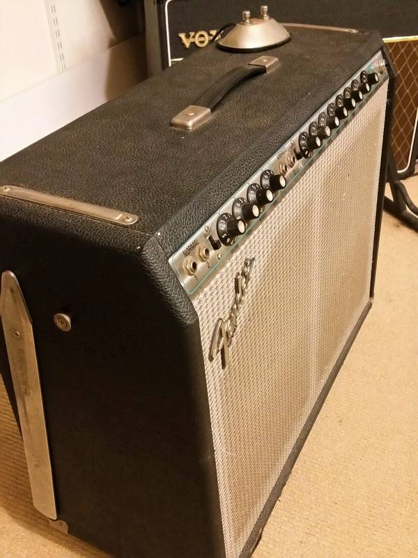Fender 1979 Fender Twin Reverb Silverface w/Vintage 30s