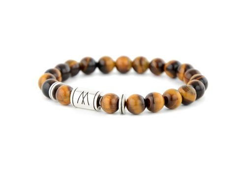 PETITE  TWIN SILVER BROWN TIGER EYE