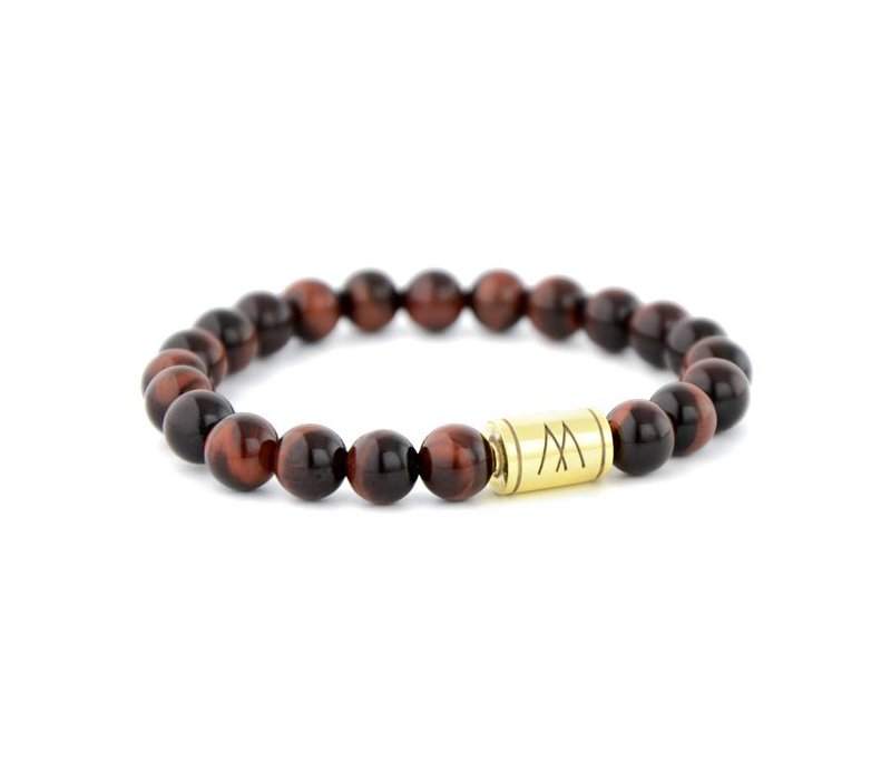 PETITE GOLD RED TIGER EYE