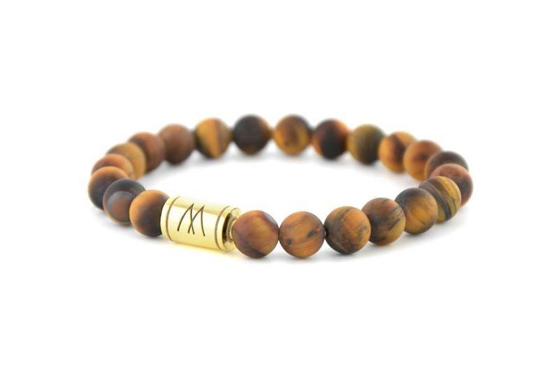 Brown Bracelet - Gold Brown Tiger Eye Matt