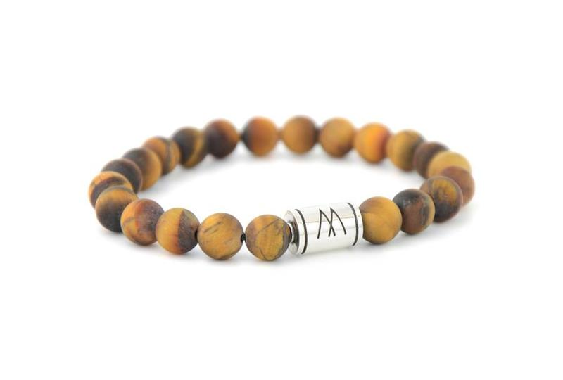 BROWN BRACELET - SILVER BROWN TIGER EYE MATT
