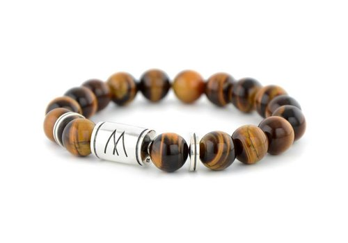 GRAND TWIN SILVER BROWN TIGER EYE