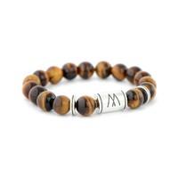 Brown Bracelet - Twin Silver Brown Tiger Eye