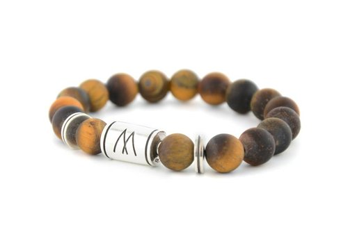 GRAND TWIN SILVER MATT BROWN TIGER EYE