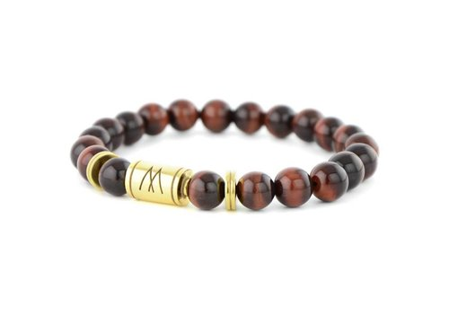 PETITE TWIN GOLD RED TIGER EYE