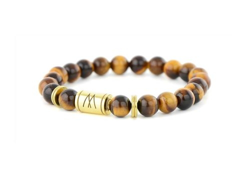 PETITE TWIN GOLD BROWN TIGER EYE