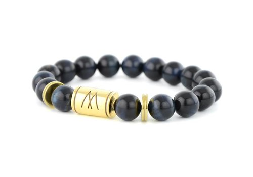 GRAND TWIN GOLD BLUE TIGER EYE