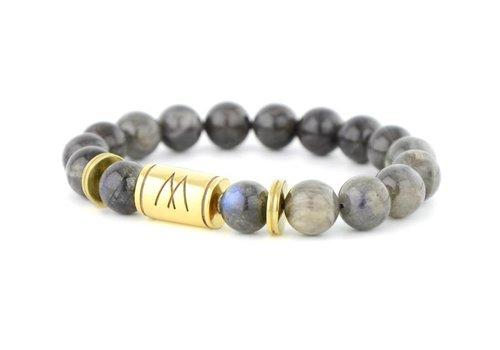 Prestige Grey Bracelet - Twin Gold Labradorite