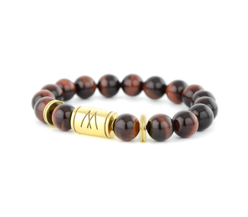 GRAND TWIN GOLD RED TIGER EYE
