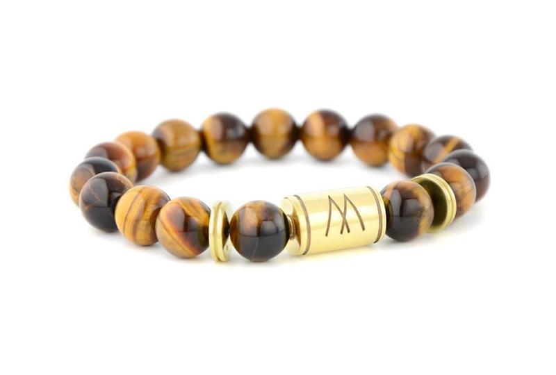 Brown Bracelet - Twin Gold Brown Tiger Eye