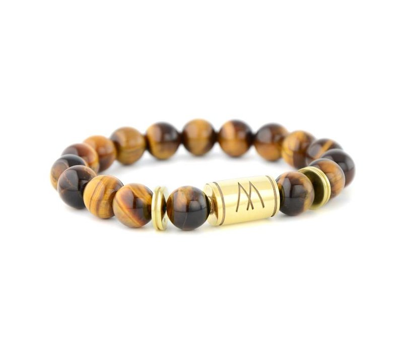 GRAND TWIN GOLD BROWN TIGER EYE