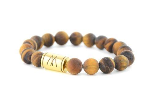 Prestige Brown Bracelet - Gold Brown Tiger Eye Matt