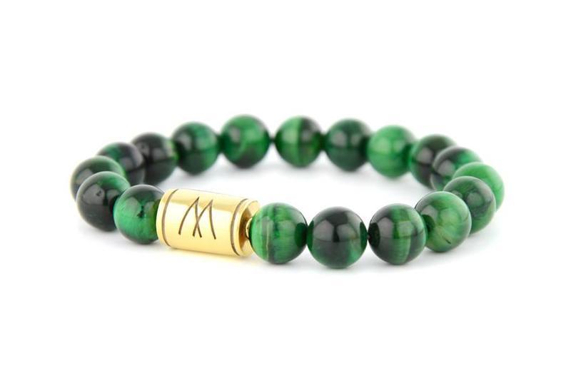 Green Bracelet - Gold Green Tiger Eye