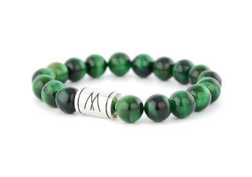 Prestige Green Bracelet - Silver Green Tiger Eye
