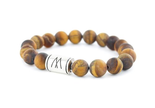 GRAND SILVER MATT BROWN TIGER EYE