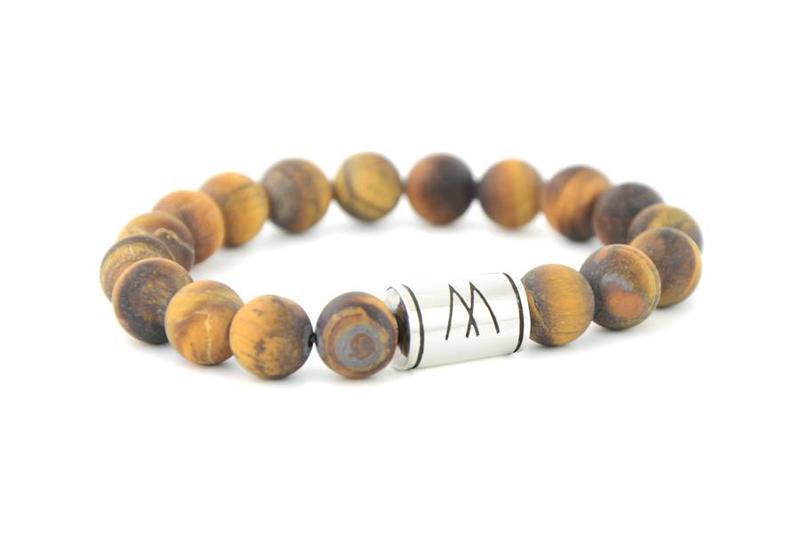 Brown Bracelet - Silver Brown Tiger Eye Matt