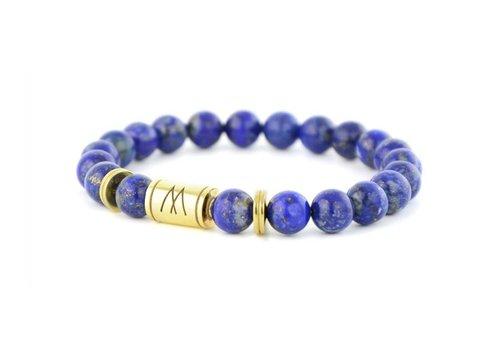 Minimal Blue Bracelet - Twin Gold Lapis Lazuli