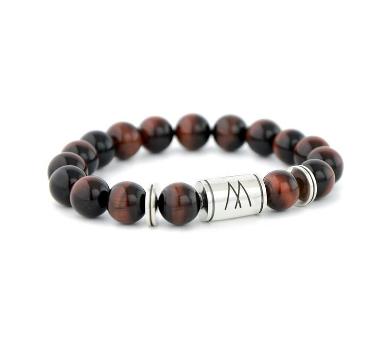 GRAND TWIN SILVER RED TIGER EYE