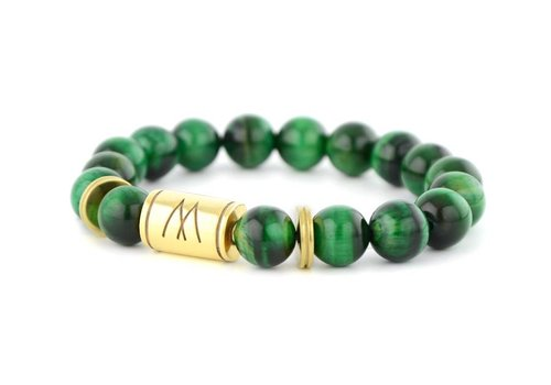 GRAND TWIN GOLD GREEN TIGER EYE