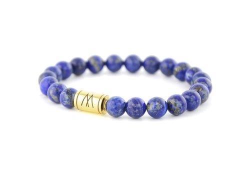 Minimal Blue Bracelet - Gold Lapis Lazuli
