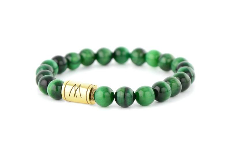 Green Bracelet - Gold Green Tiger Eye