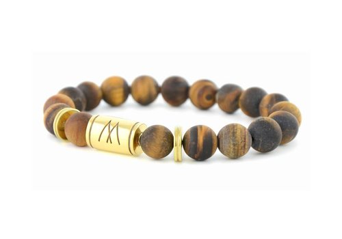 Prestige Brown Bracelet - Twin Gold Brown Tiger Eye Matt