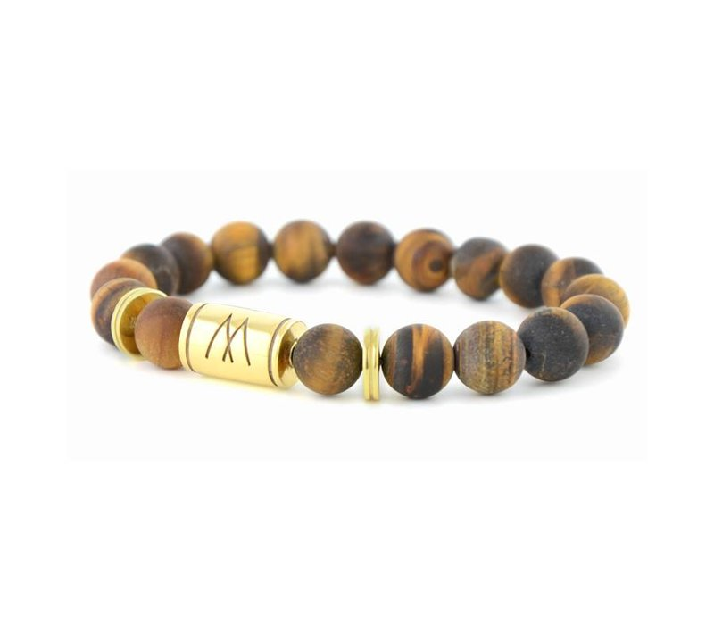GRAND TWIN GOLD MATT BROWN TIGER EYE