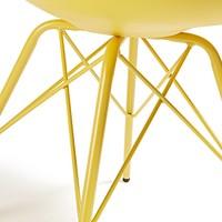 Lars stoel metaal geel - La Forma