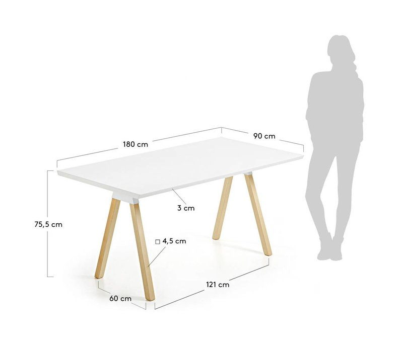 Stick Eetkamertafel 180×90 cm