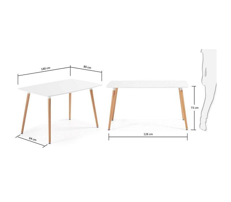DAW Eettafel 140x80