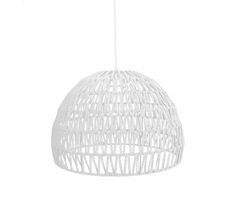 Hanglamp Touw Medium Wit