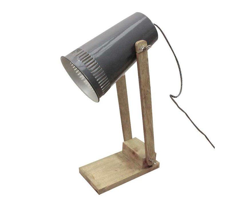 Tafellamp Retro - Donker grijs