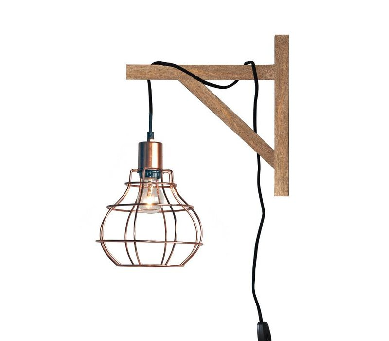 Wandlamp Drop Koper