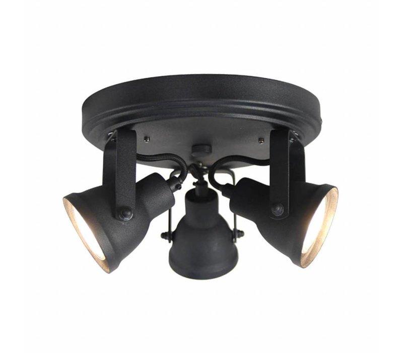 LED Spot Max 3-lichts Zwart